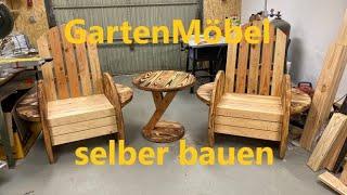 Hier mal eine Variante von einem Gartenstuhl! (Gartenmöbel) Selber Bauen!