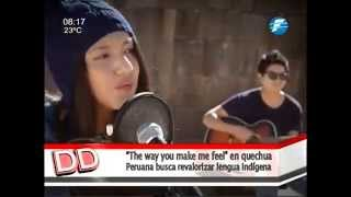 Joven Peruana Canta Tema De  Michael Jackson En Quechua 03/08/15