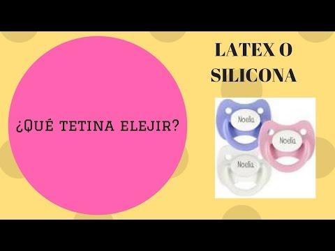 ¿Chupete De látex o de silicona? Diferencia