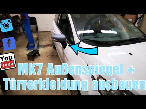 Ford Fiesta MK7 Aussenspiegel wechseln / How to Remove & Replace Side Mirror / Door Card