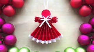 Basteln für Weihnachten mit Papier - Engel als Weihnachtsdeko selber machen - Bastelideen