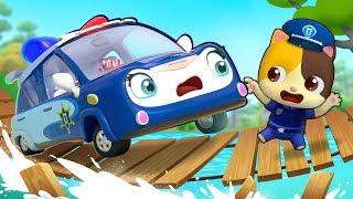 Brave Police Car - Polly   Monster Truck, Fire Truck   Cars for Kids   Kids Songs   BabyBus