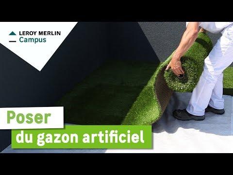 Comment poser du gazon artificiel ?   Leroy Merlin