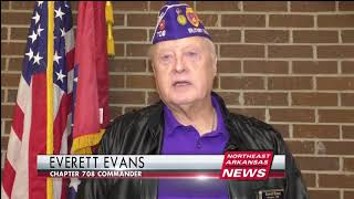 Paragould Sixth Grader Donates Pie Sales to Purple Heart Vets
