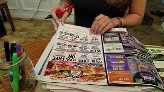 ASMR *NO TALKING* looking through newspaper ad's, circling in pen and marker