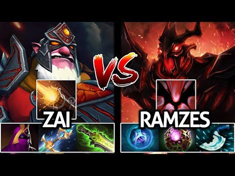 Zai Sniper VS Ramzes Shadow Fiend | Insane Battle Mid of Magic Build 7.21 Dota 2
