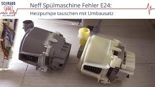 Bosch/Siemens/Neff Spülmaschine Fehler E24: Ablauf prüfen / Heizpumpe tauschen (E09) mit Umbausatz