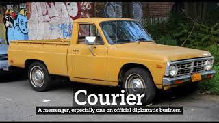 What is Courier? | How Does Courier Look? | How to Say Courier in English?