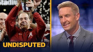 Joel Klatt on Nick Saban: 'The best college football coach in the history of our sport' | UNDISPUTED