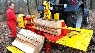 Как европейцы без напряга пилят и колют дрова на зиму