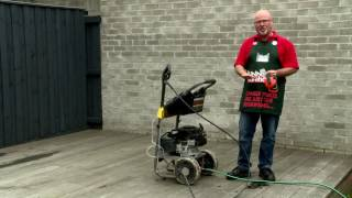 bunnings - pressure washing a deck