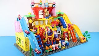 Peppa Pig Blocks Mega House With Water Slide Toys For Kids - Lego Duplo House Building Toys #9