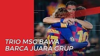 Saling Berbagi Gol, Trio MSG Barcelona Bawa Skuad Juara Grup F Liga Champions