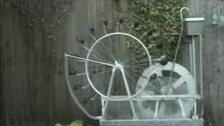 Perpetual motion water wheel