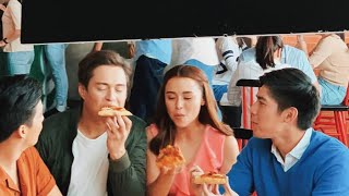 Hilarious Moments At The Set Of New Greenwich TVC With Enrique Gil, Robi Domingo, Yassi Pressman