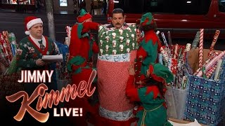 Guillermo Sets Record for Most Wrapping Paper Worn by a Human Being
