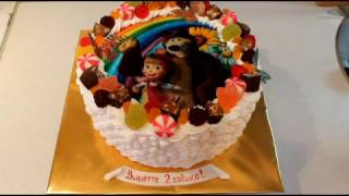 Как Приклеить Вафельную Картинку На Торт Как Украсить Детский Торт