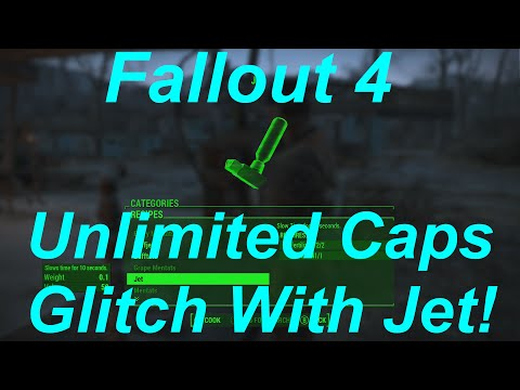 Fallout 4 Unlimited Caps Glitch / Exploit! Infinite Caps Method With Jet! (Fallout 4 Glitches)