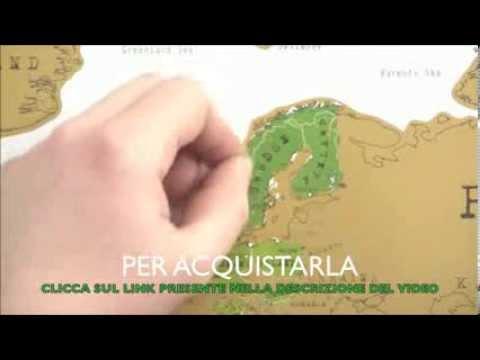MAPPA MONDO TIPO GRATTA E VINCI POSTER DA PARETE SCRATCH MAP CARTINA GEOGRAFICA