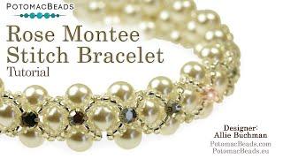 Rose Montee Stitch - DIY Jewelry Making Tutorial By PotomacBeads
