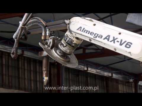 Robot do ukosowania blach - Arc welding robot - Lichtbogenschweißroboter - OTC DAIHEN ALMEGA AX V6 - zdjęcie