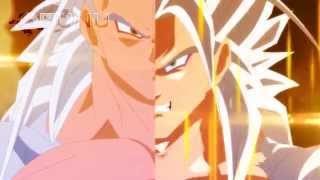 Fused Evil Goku vs Super Saiyan 5 Vegeta (Dragon Ball EX)