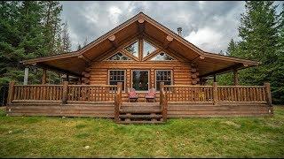Amish Log Home, Single Level Lake Creek, Meadowlark Log Homes