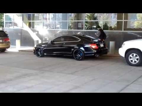 "Mercedes-Benz C350 Coupe lowered on 19"" Rohana RC5 Black Wheels"