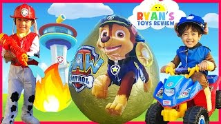 PAW PATROL TOYS Giant Egg Surprise opening with Ryan!