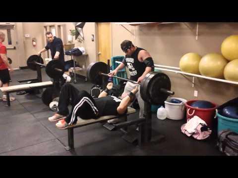 Garrett Gunz Griffin 480lb Raw bench press at 198bw Team BOAD