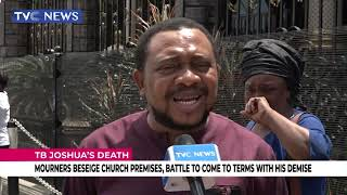 TB Joshua's Death: Mourners Beseige Church Premises, Battle To Come To Terms With His Demise