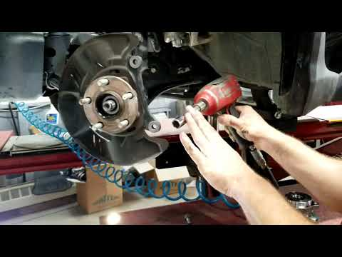 How to replace front wheel bearing hub on a subaru, xv crosstrek, impreza, wrx, step by step.
