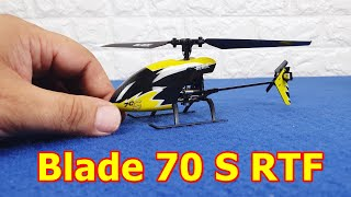 Helicopter RC Blade 70 S RTF Horizon Hobby Micro Electric Indoors Unboxing + Test