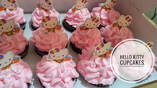 Hello Kitty Cupcakes | Birthday Cupcake Idea | Moist Chocolate Cupcakes | Happy Ribbon PH | VLOG #77