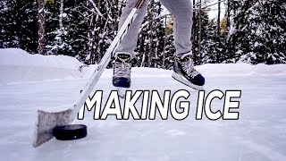 Trying to make PERFECT ice on the Outdoor Rink