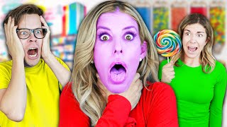 REBECCA CHOKED Sneaking into a Candy Store Pregnant
