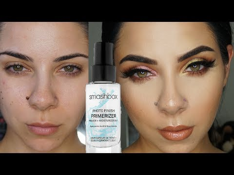 WORLDS BEST MAKEUP PRIMER?? Smashbox Photo Finish Primerizer first impression review + Demo