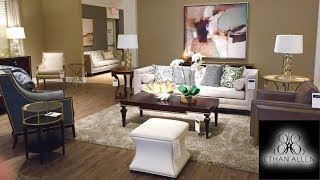 ETHAN ALLEN SHOP WITH ME 2020 FURNITURE SOFAS ARMCHAIRS HOME DECOR SHOPPING STORE WALK THROUGH 4K