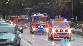 preview picture of video 'Löschzug + KdoW A-Dienst BF Hannover FW 1 City (HD)'