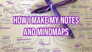 HOW I MAKE MY NOTES AND MINDMAPS (AD)| Sophia X