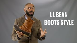 How To Wear LL Bean Bean Boots And Review/How To Style LL Bean Mens Boots