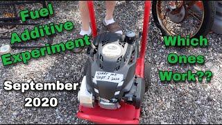 Fuel Additive Experiment - September 2020
