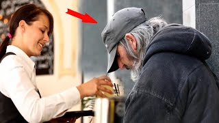 A waitress fed a homeless person and she couldn't imagine who he really was!