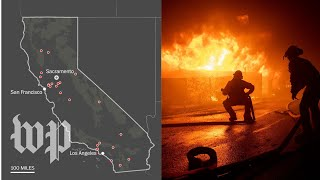 Here's where the California wildfires are and where they could spread next