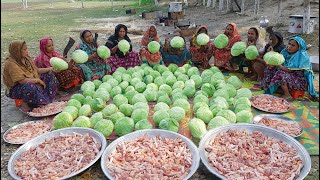 Cabbage & Chicken Lotpoti Mixed Mashed Cooking By Women/ Tasty & Healthy Village Style Cabbage Curry