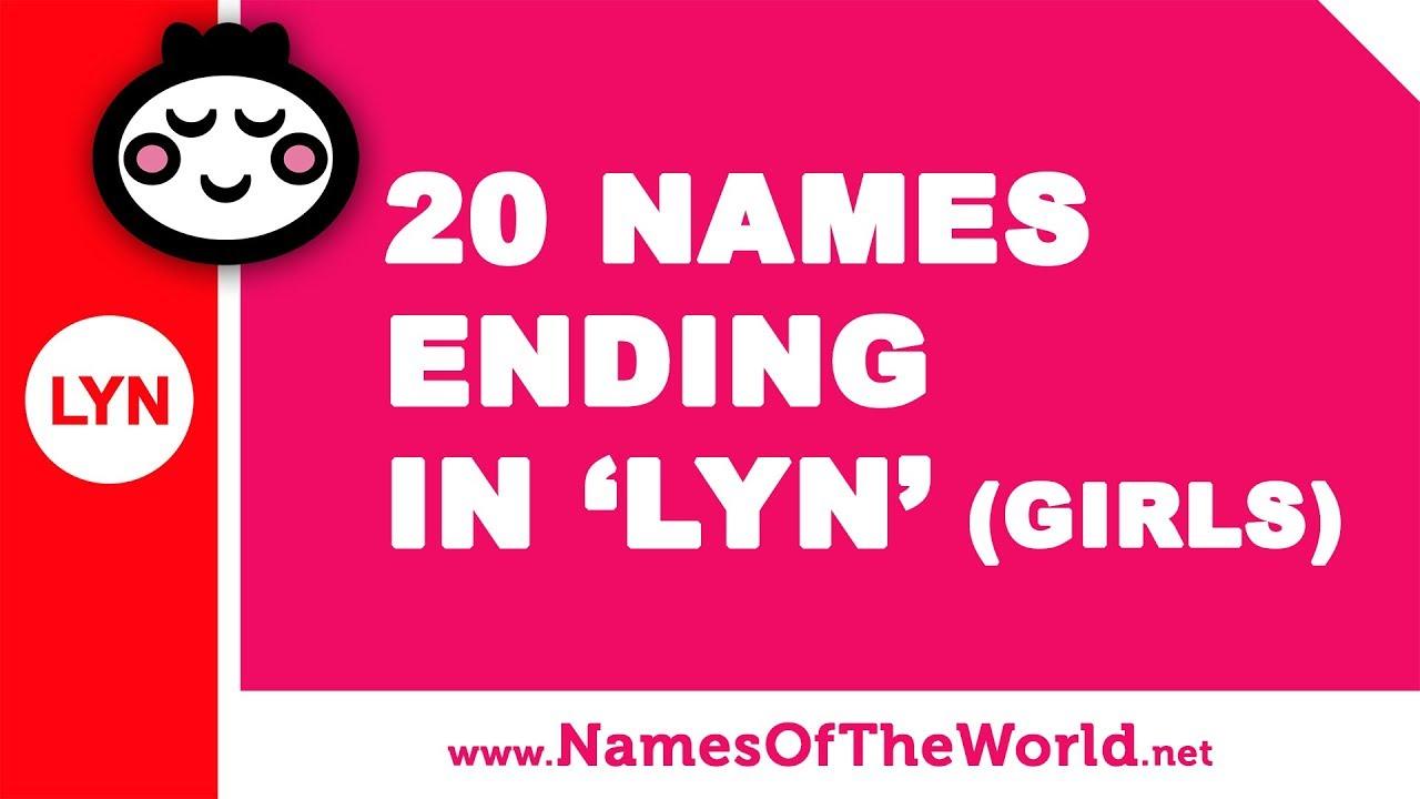 20 girl names ending in LYN - the best baby names - www.namesoftheworld.net