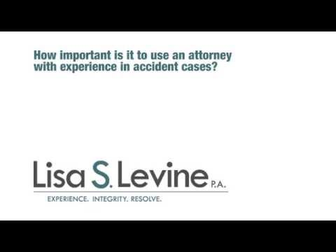 How important is it to use an attorney with experience on accident cases?