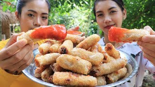 Yummy cooking spring rolls with pork recipe - Cooking skill
