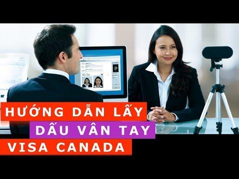 Hướng dẫn LẤY DẤU VÂN TAY  xin VISA Canada
