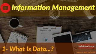 Information Management  1 -- Data